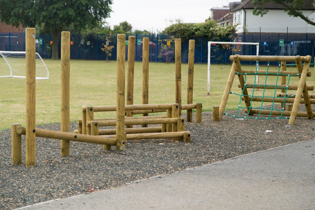Primary School Trim Trail with Safety Surfacing