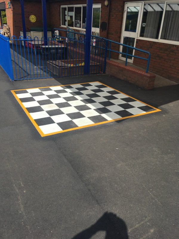 image of a chess board play marking in a school