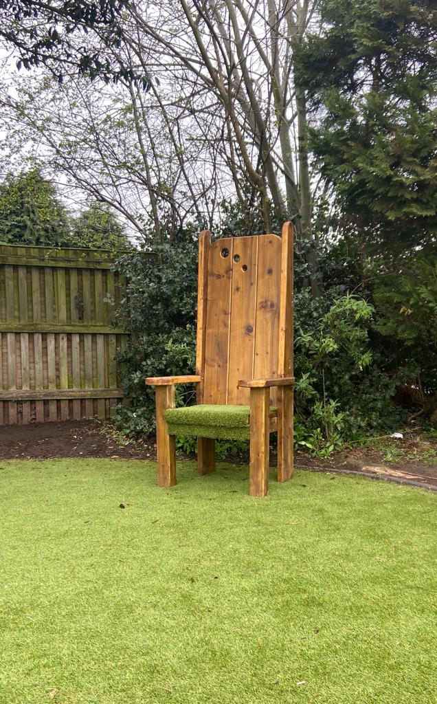 image of a story telling chair for school playgrounds