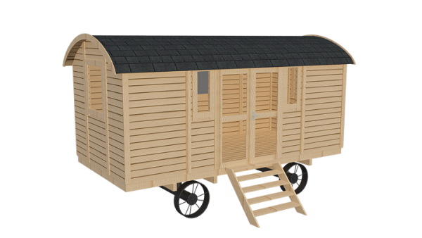 image of a shepherds hut for an outdoor classroom for school