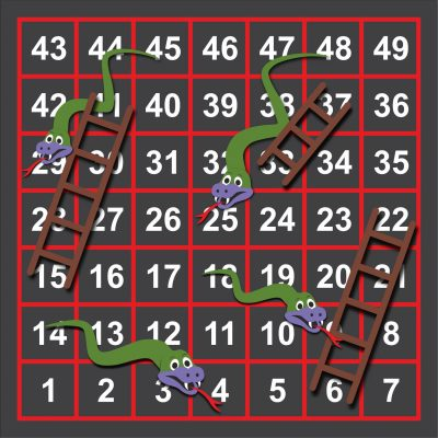 snakes and ladders play marking for schools