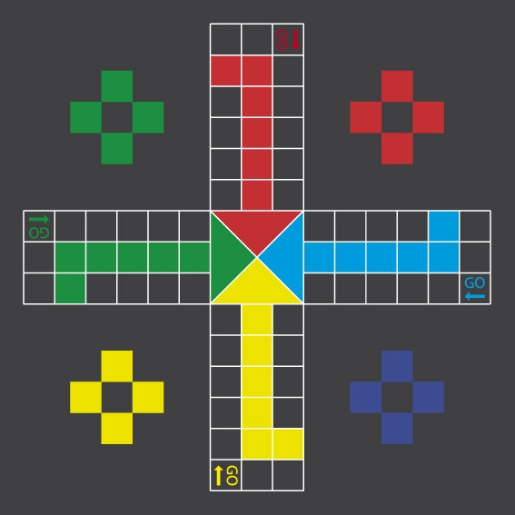 large LUDO game play marking for schools