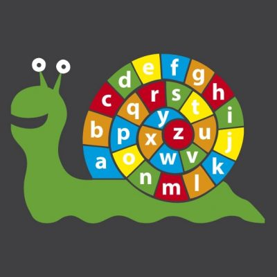 image of letter snail playground markings for schools