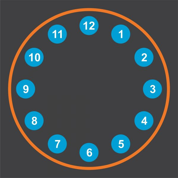 image of a clock playground markings for schools